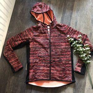 Nike | Therma Fit Coral & Black Zip Up Jacket